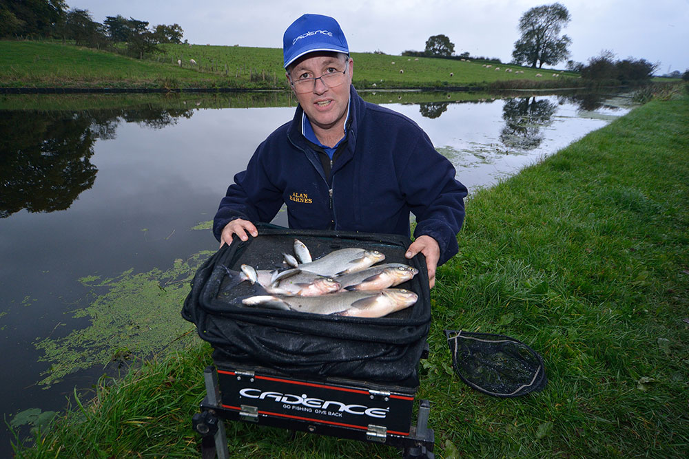 Alan put together this 8lb Lancaster Canal skimmer catch in three hours on a testing autumn day using the cadence CR10 No:1 10ft wand and the CS10 3000 reel.