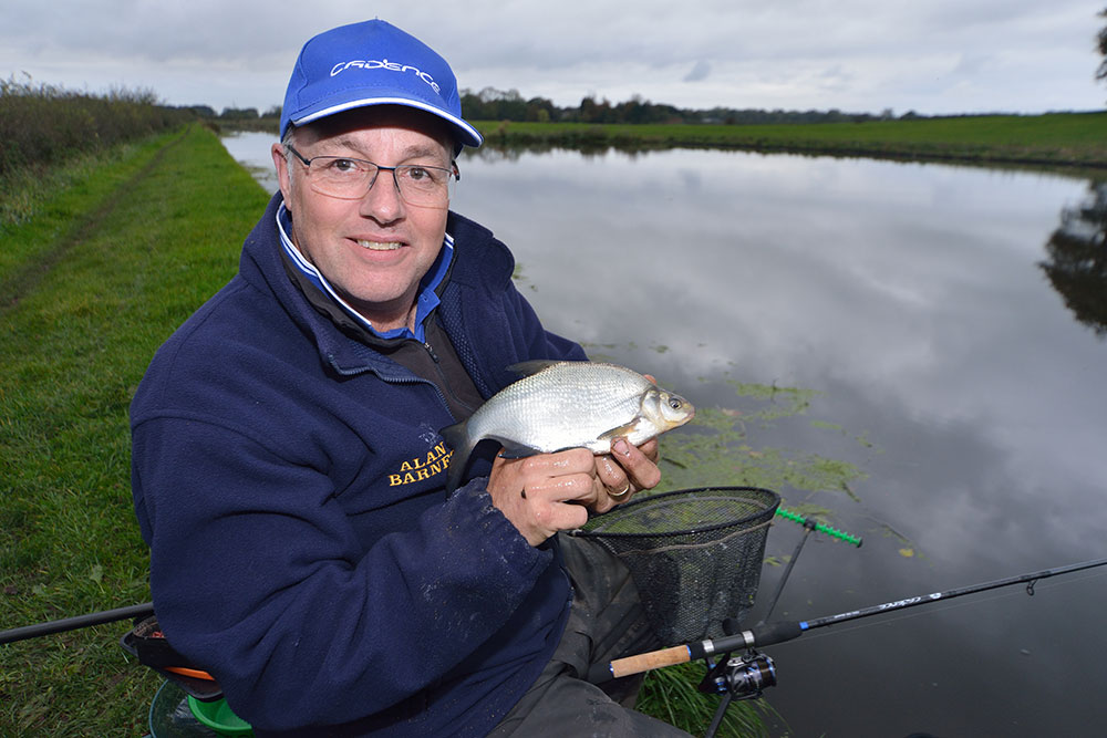 Alan with a mint-conditioned Lancaster Canal skimmer caught on the cadence CR10 10ft No:1 wand