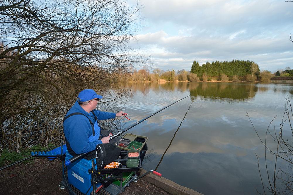 Pole Fishing at Woodland Waters
