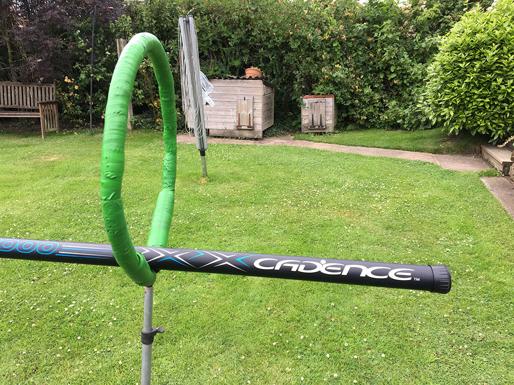Simple Safety: Make a padded hoop using an old landing net head and pipe lagging