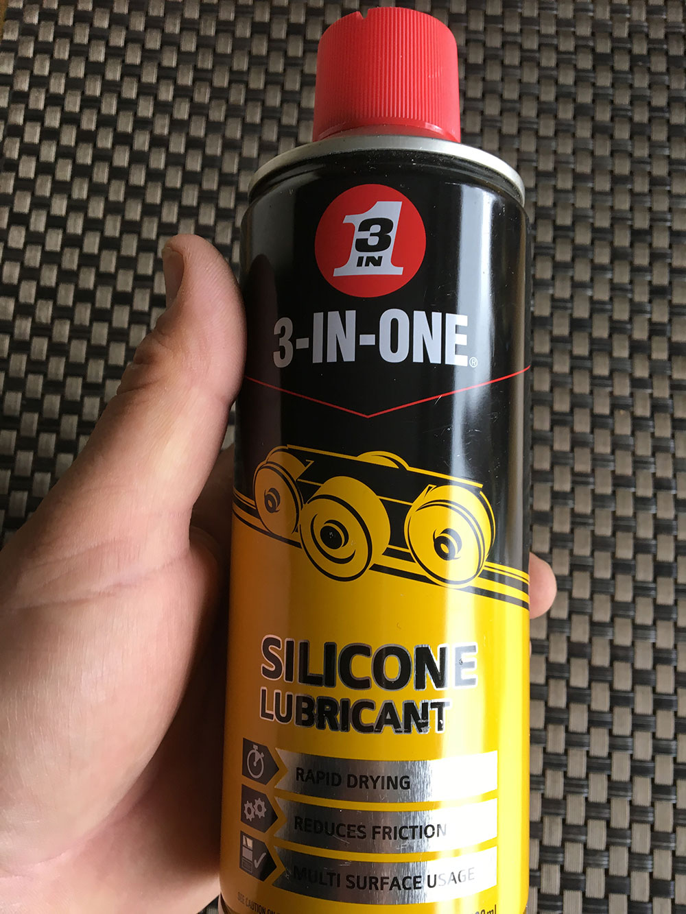 Smooth Operator: Silicone spray helps you ship your pole smoothly and repels water
