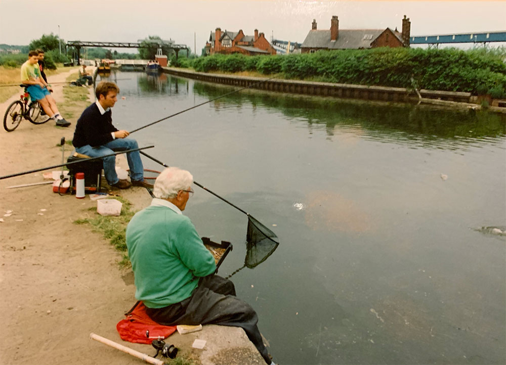 Alan with Benny Ashurst in July 1992. Wonderful memories!