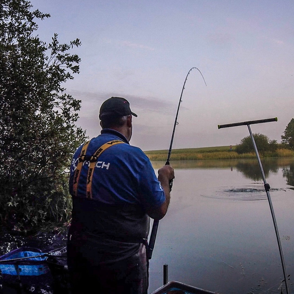 Playing the a river season open day bream.
