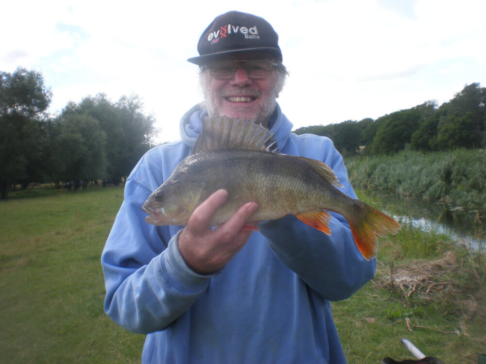 The only fish caught on the river today another 2lbs perch.