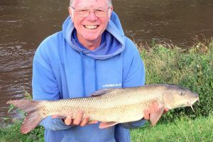 A nice Barbel from the River Severn using roving tactics.