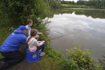 James, Cian and Rosie fishing