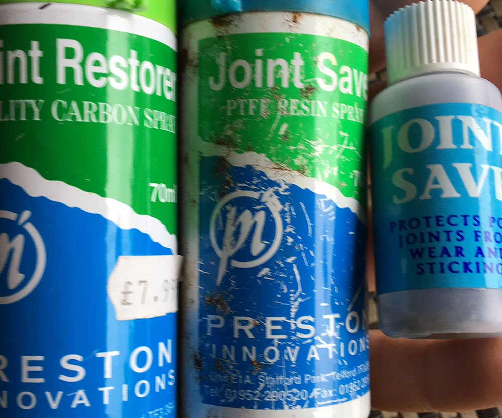 Protect & Preserve: You can buy Joint Save and Joint Build-Up products from tackle shops
